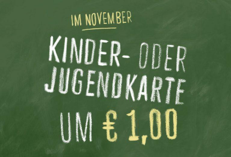Kinder-/Jugendkarte um € 1,00